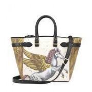 Marylebone Tote Med Pegasus Ivory Print