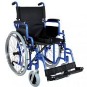 sedia a rotelle / carrozzina in alluminio classica - tessuto nero - se