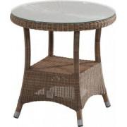 4 Seasons Outdoor Sussex bistro tafel 55 cm. Ø H 55. +glas - Polyloom Taupe