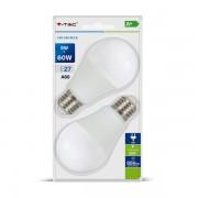 LAMPADINA LED E27 9W BIANCO FREDDO BLISTER 2 PEZZI VT-2139-LED7296