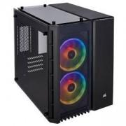 Компютърна кутия Corsair Crystal Series 280X RGB (Micro ATX), Tempered Glass, черен, CC-9011135-WW