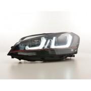 FK-Automotive fari Daylight a LED con DRL VW Golf 7 anno di costr. ab 2012 GTI-Look neri/rossi
