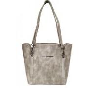 Lino Perros Women Casual Grey Leatherette Sling Bag