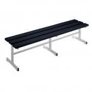 Wolf Garderobenbank Sitzfläche einseitig schwarz, 1500 mm Länge