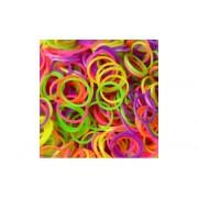 Elastice Rainbow Loom - Neon Mix - 300 buc