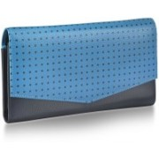 Fastrack Women Casual Blue Genuine Leather Wallet(8 Card Slots)