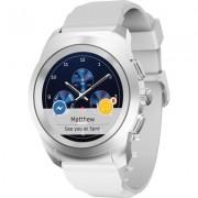 Хибриден смарт часовник MyKronoz ZeTime Petite Silver/White, силиконова бяла каишка