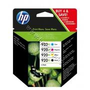 Мастило HP 920XL combo 4-pack, 4 цвята, p/n C2N92AE - Оригинален HP консуматив - к-т 4 касети с мастило