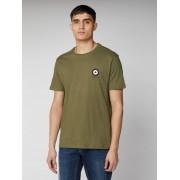 Ben Sherman Script Chest Target T Shirt Small Khaki