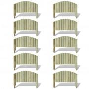 vidaXL Prășitoare din butuci arcuiți 10 buc 55 cm