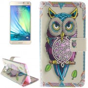Owl Pattern Leather Case with Holder & Card Slot & Wallet for Samsung Galaxy A7 / A700F