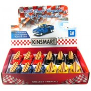"""12 pcs in Box: 5"""" 1955 Chevy Stepside Pickup with Surfboard 1:32 Scale (Black/Blue/Red/Yellow)"""