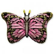 """Fólia lufi, nagyforma, pillangó, rózsaszín, 24"""""""