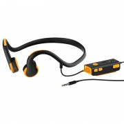 3.5mm Wire-controlled Bone Conduction Headphone Sports Headset for Phone/PC - Orange