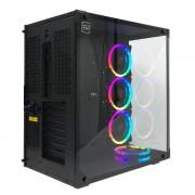 Redragon WIDELOAD RGB Tempered Glass Front/Side 3xRGB Fan ATX Micro ATX Mini ITX EATX 390mm GPU Black