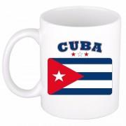 Bellatio Decorations Cubaanse vlag theebeker 300 ml