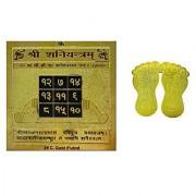 eshoppee shani dosh nivaran yantra 2 x 2 inch with mata laxmi charan paduka