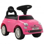 vidaXL Ride-on Car Fiat 500 Pink