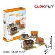 CubicFun Case traditionale din Germania Puzzle 3D 181 piese