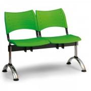 Kovo Praktik Plastové lavice VISIO, 2-sedák, chromované nohy červená
