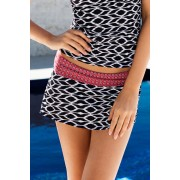 Womens Quayside Skirtini Brief - Aztec Print