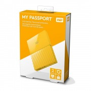 HDD Extern WD, 2TB, My Passport, 2,5 USB 3.0, Galben