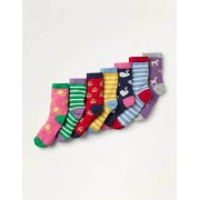 Mini Wappen Box mit Socken im 7er-Pack Mädchen Boden, 23-26, Multi