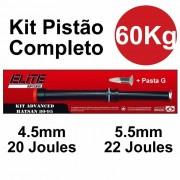Kit Pistão Mola Gas Ram 60kg Hatsan HT 80 HT 95 - Elite Airguns