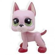 LHJ Littlest Pet Shop Rare Pink Great Dane Dog Puppy Green Eyes Lps #2583