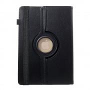 Shop4 - Lenovo Tab 4 10 Plus Hoes - Rotatie Cover Lychee Zwart