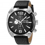 Diesel Mens DZ4341 Overflow Analog Display Analog Quartz Black Watch