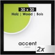 2x1 Nielsen Accent Magic 30x30 Wooden Frame black 9733004