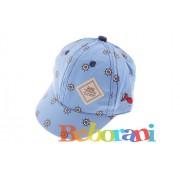 Светло синя шапка за момче на морска тематика