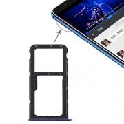 JUNXI Phone Bandeja de Tarjeta SIM + Bandeja de Tarjeta SIM/Bandeja de Tarjeta Micro SD for Huawei Honor Play 7X (Negro) + Alta Calidad (Color : Blue)