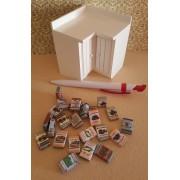 Articole de bacanie - set cutii - miniaturi papusi