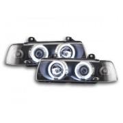FK-Automotive fari Angel Eyes CCFL BMW serie 3 E36 berlina anno di costr. 92-98 nero