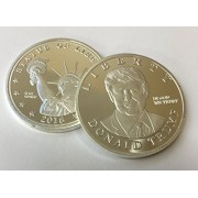 Donald Trump US Presidential Candidate & Statue of Liberty Silver Plated Commemorative Token by Happy Collecting