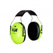 3M PELTOR Kid Ear Defenders, 27 dB, Neon Green, Headband, H510AK-442-GB