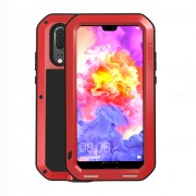 LOVE MEI Shockproof Dropproof Dustproof Phone Case for Huawei P20 - Red