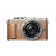 Olympus PEN E-PL9 (кафяв) + обектив Olympus ZD Micro 14-42mm f/3.5-5.6 EZ Цифров фотоапарат 16.1 Mp