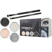 Bellápierre Cosmetics Make-up Sets Smokey Eyes Get the Look Kit Shimmer Powder Snowflake 2,35 g + Shimmer Powder Tin Man 2,35 g+ Shimmer Powder Noir 2,35 g + Mineral Makeup Base 8,5 g + Liner Brush + Oval Eyeshadow Brush 1 Stk.