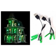 Arundel Services EU Led Light up Kit for Lego Haunted House 10228 Also 16007 Lights Building Blocks Compatible