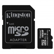 Card Kingston Industrial microSDHC 16GB 45 Mbs Clasa 10 UHS-I U1 cu adaptor SD