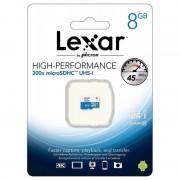 Lexar TARJETA MICROSDHC UHS-I 8GB 300X 45MB/S