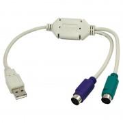 Adaptor Logilink AU0004A 1x USB 1.1 Male - 2x PS/2 Female 0.30m alb