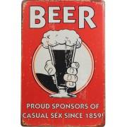 Beer Proud Sponsors - 30x20 cm Metallskilt