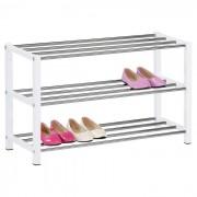 IDIMEX Etagère à chaussures DUBLIN blanc, 3 niveaux