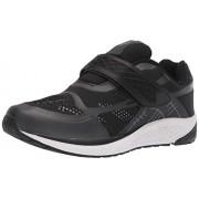 Propét Propet One Strap Zapatillas para Hombre, Negro/Gris Oscuro, 11