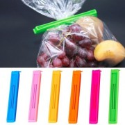 GC Plastic Food Snack Bag Pouch Clip Sealer For Keeping Food Fresh 6 Pieces