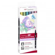 Tombow Brush Pen Tombow - ZESTAW 6 SZT - pastelowe kolory - pastelowe